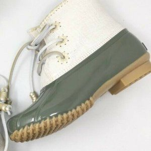 Jack Rogers Chloe Duck Boots Winter Rain Gold 8